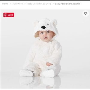Pottery Barn polar bear costume